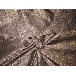 Reversible Brocade fabric navy x antique gold color 44'' wide bro630[2]