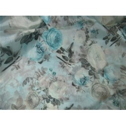100% pure silk satin organza digital printed