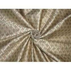 "Brocade fabric cream x gold color 44""wide Bro621[5]"