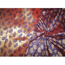 "Reversible Brocade fabric iridescent blue x gold color 44""wide Bro622[1]"