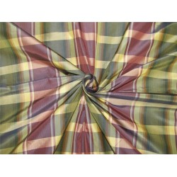 silk taffeta fabric dark shade aubergine /green/light gold 54''wide TAF#C56[2]