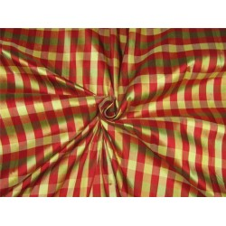 Silk Dupioni Fabric plaids red /yellow /green 54'' width DUP#C95[2]