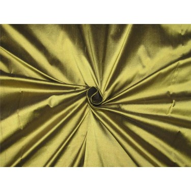 "100% pure silk dupioni  golden olive x black color 54"" DUP#255[3]"