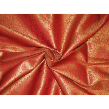 Brocade fabric red x metallic gold color 44'' wide Bro626[3]