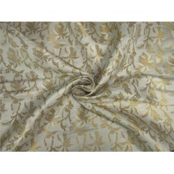 Brocade fabric ivory x metallic gold color 44'' wide Bro625[2]