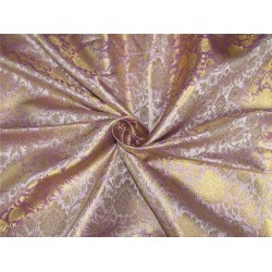 Brocade fabric lilac x metallic gold color 44'' wide bro628[2]