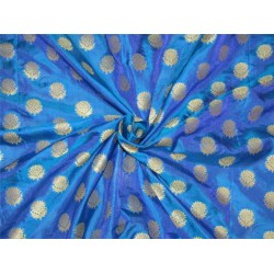 Brocade fabric royal blue x metallic gold color 44'' wide bro627[2]