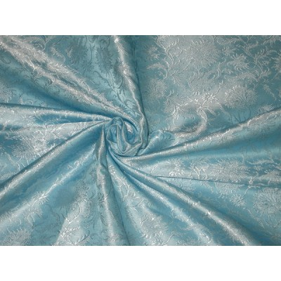 gold and turquoise fabric silk brocade fabric gold white 44