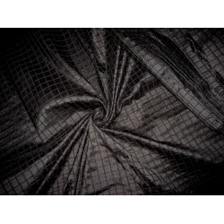 "Black colour  ""Waffle "" Silk Dupioni fabric 44"""