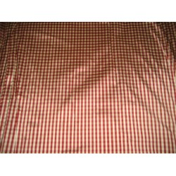 "silk dupioni small plaids 54""-4 mm-dark burgundyDUPC46"
