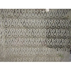 """LACE:Rich Chemical Lace Fabric 44"""" IVORY GOLD color FF35[2]"""