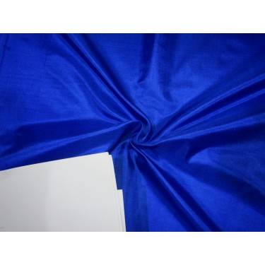 "Pure Silk Fabric, GSM: 50 Gram MARY ANN Royal Blue 44""by the yard"