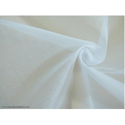 """White 100% finlay 120x 120 count  cotton organdy medium stiff fabric 44"""" wide sold by the yard"""