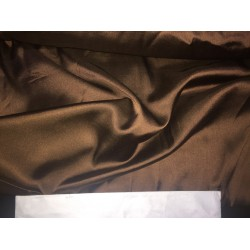 "BROWN  viscose modal satin weave fabrics 44"" wide"