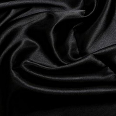 "BLACK  viscose modal satin weave fabrics 44"" wide"