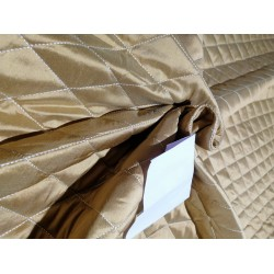 Dupioni silk diamond pintuck design QUILTED gold 54""