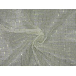 "silk organza fabric metallic  gold plaids fabric 44"" by the yard"