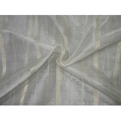"silk organza fabric metallic  gold plaids and stripefabric 44"" by the yard"