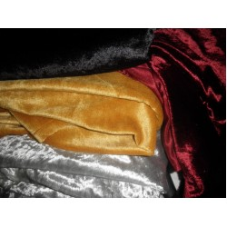 "Polyester  Velvet fabric 60""~4 colours available"