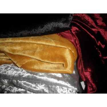 """Polyester  Velvet fabric 60""""~4 colours available"""