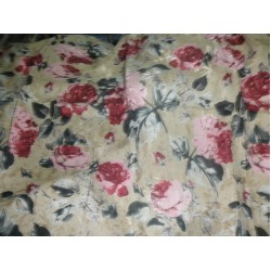 "japanese satin printed fabric 44""~big floral"