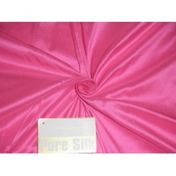 Pure SILK DUPIONI FABRIC Florescent Pink colour