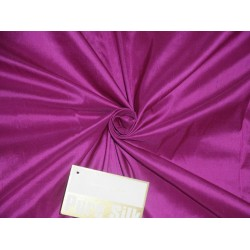 Pure SILK DUPIONI FABRIC Fuchsia Purple colour