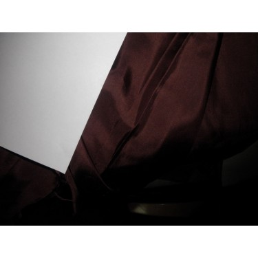 "coffee brown  colour plain habotai silk 44""*"