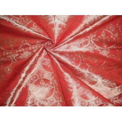Silk Brocade Vestment Fabric rich rich orange