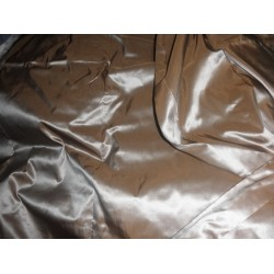 "SILK TAFFETA FABRIC HOT CHOCOLATE 60"" wide sold by the yard"