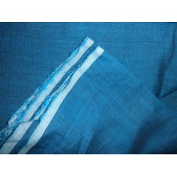 two tone linen{iridescent} turquoise blue x black