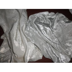 """shimmer velvet fabric 44"""" wide-gold and silver colours"""