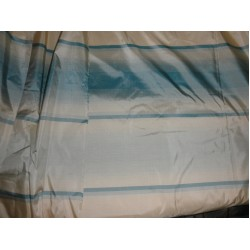 'silk taffeta new stripes -CHAMPAGNE/ blue stripesTAFS27[2]