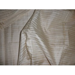 tussar silk 85 % / viscose 15% fabric ~stripes