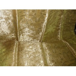 Pure gold colour Silk Brocade Fabric pure Gold colourBRO115[4]