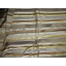 Silk Tafeta Fabric Iridescent multi colour + satin stripe