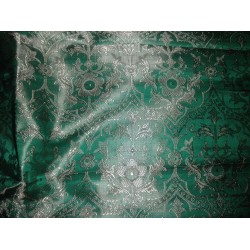 SILK BROCADE GREEN JACQUARD-vestment fabric