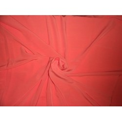 "Butter CREPE FABRIC 58""-Craving Coral"
