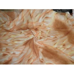 """Printed voile fabric 44"""""""