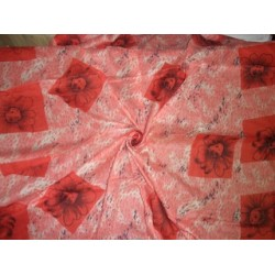 """Printed voile fabric 44""""x66"""""""