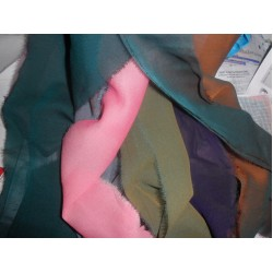 "Silk georgette 44"" wide~iridescent colours"