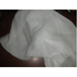 thin 26 mm White  pure linen fabric 59*