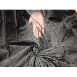 TUSSAR SILK FABRIC Black color