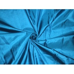 "Mary Ann plain silk fabric Blue color 44"" 2.34 yards continuous piece"