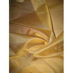 "Light Gold SILK ORGANZA FABRIC 54"" WIDE"