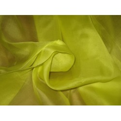 "Florescent Green SILK ORGANZA FABRIC 44"" WIDE"