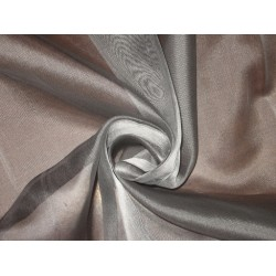 "DARK STEEL GREYISH SILVER SILK ORGANZA FABRIC 54"" WIDE"