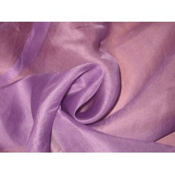 "Light Purple SILK ORGANZA FABRIC 44"" WIDE"