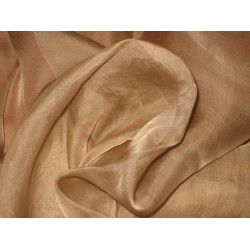 "Dark Camel SILK ORGANZA FABRIC 44"" WIDE"