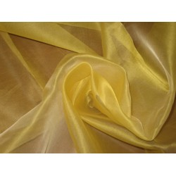 "Exlusive silks~GOLDEN YELLOW silk organza 108""-110"" wide"